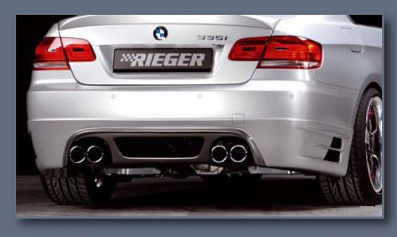 Rieger Carbon Look Rear Skirt w/ Mesh BMW E92 & E93 335i 07-11