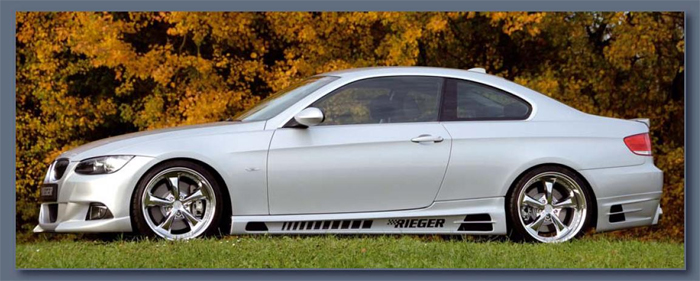 Rieger Carbon Look Side Skirts w/ Intakes BMW E92 & E93 07-11 - R 99566-67