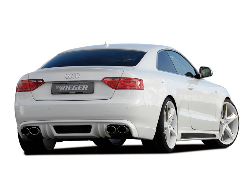 rieger carbon look rear apron diffuser audi a5 b8 b81 s. Black Bedroom Furniture Sets. Home Design Ideas