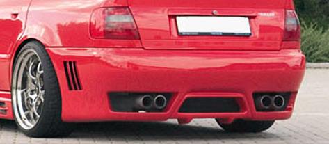 Rieger New Design Rear Bumper w/ Gills Audi A4 B5 Avant Euro 95-01 - R 55058
