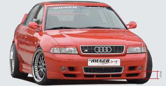 Rieger type 8e look front lip spoiler audi a4 b5 euro spec for Mercedes benz b5 service cost
