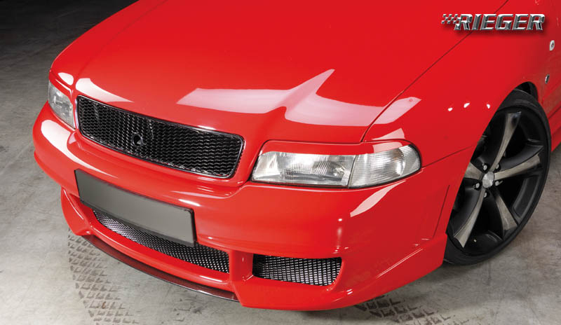 Rieger New Design Carbon Look Center Splitter for Front Bumper Audi A4 B5 95-01 - R 99054