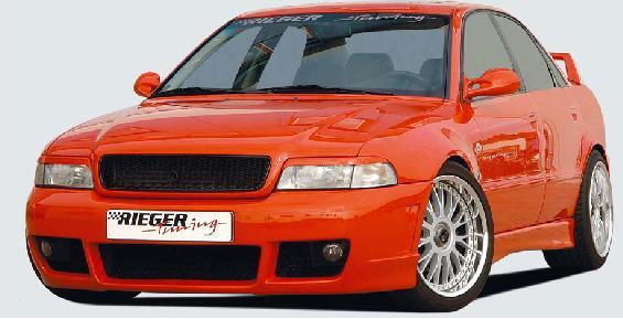 Rieger RS4 Look Front Bumper w/o Fog Brackets Audi A4 B5 95-01 - R 55025
