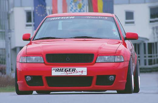 Rieger rs4 look front bumper w fog brackets audi a4 b5 95 01 for Mercedes benz b5 service cost