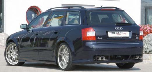 Rieger Rear Apron Diffuser w/ Mesh Audi A4 B6 Type 8E Avant Euro Spec 02-05 - R 55207