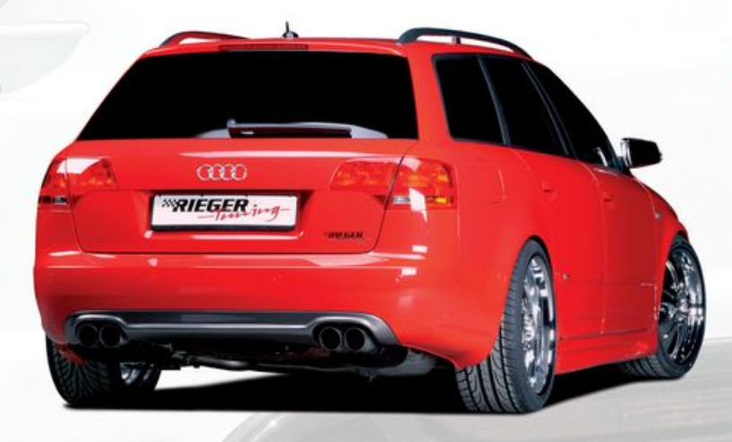 Rieger Carbon Look Rear Skirt Audi A4 B7 Type 8E 05-08 - R 99023