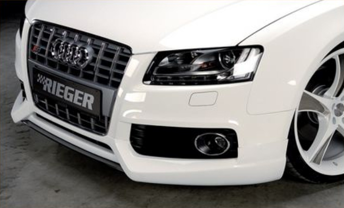 Rieger Carbon Look Center Splitter for Front Spoiler Audi S5 B8 & S-Line 08-16 - R 99058