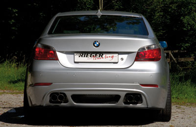 Rieger Carbon Look Rear Apron Diffuser w/ Mesh BMW 5 Series E60 04-08 - R 99547