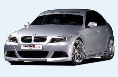 Rieger Front Bumper w/ Washers Including Mesh BMW E90 Sedan 06-11 - R 53411