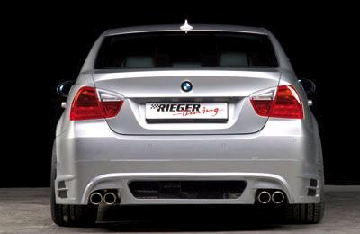 Rieger Carbon Look Rear Apron Diffuser w/ Mesh BMW E90 Sedan 06-08