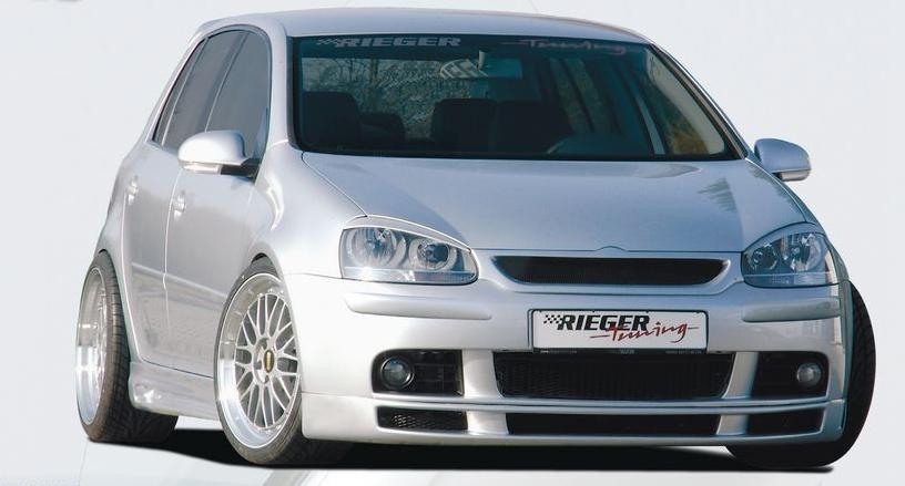 Rieger Front Lip Spoiler w/o Ribs Volkswagen Golf V 05-08 - R 59301