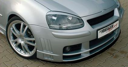 Rieger DTM Splitter for Front Bumper Volkswagen Golf V 05-08 - R 59303
