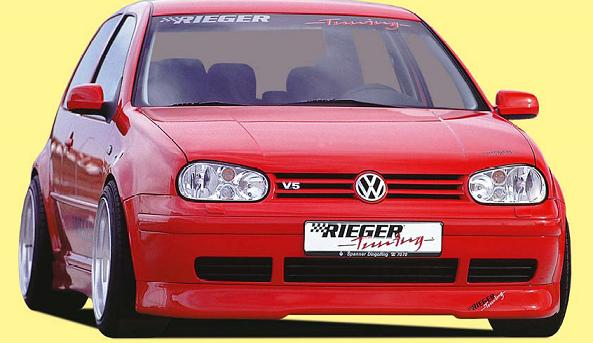 Rieger DTM Splitter for R-RS Front Spoiler Lip Volkswagen Golf IV 99-05 - R 59004