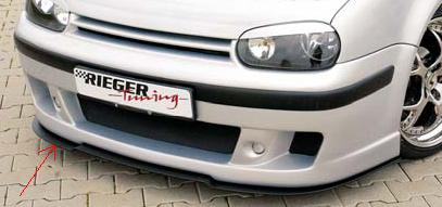 rieger dtm splitter for cabrio r rs front spoiler. Black Bedroom Furniture Sets. Home Design Ideas