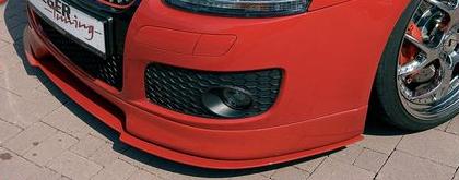 Rieger Carbon Look DTM Straight Bended for Front Lip Volkswagen Golf GTI V 05-08 - R 99727
