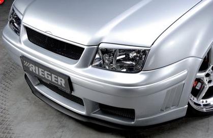 Rieger Carbon Look DTM Splitter for Front Bumper Volkswagen Jetta IV 99-05