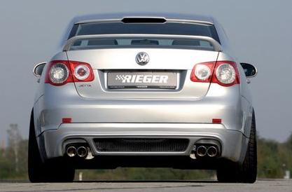 Rieger Carbon Look Rear Apron Diffuser Volkswagen Jetta V 05-10