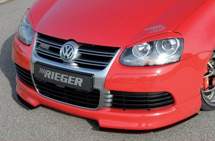 Rieger Carbon Look DTM Splitter 2 Piece for Front Lip Volkswagen R32 MkV 06-08