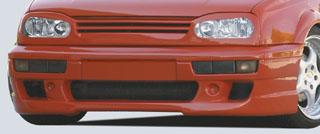 Rieger DTM Splitter for R-RX Front Bumper w/ Mesh Volkswagen Golf III 93-99 - R 42028