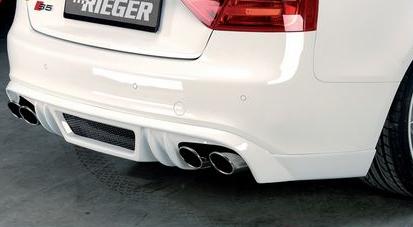 Rieger A5 S8 Rear Apron Diffuser Audi S5 B8 & S-Line 08-16 - R 55408