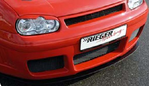 Rieger DTM Straight Splitter for RS4 Look Front Bumper Volkswagen Golf IV 99-05 - R 59019