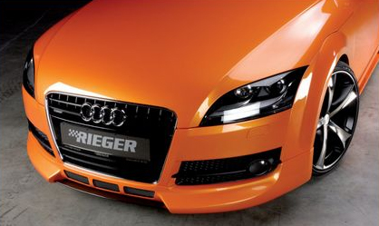 Rieger Carbon Look Center Splitter for Front Spoiler Audi TT 8J 07-12