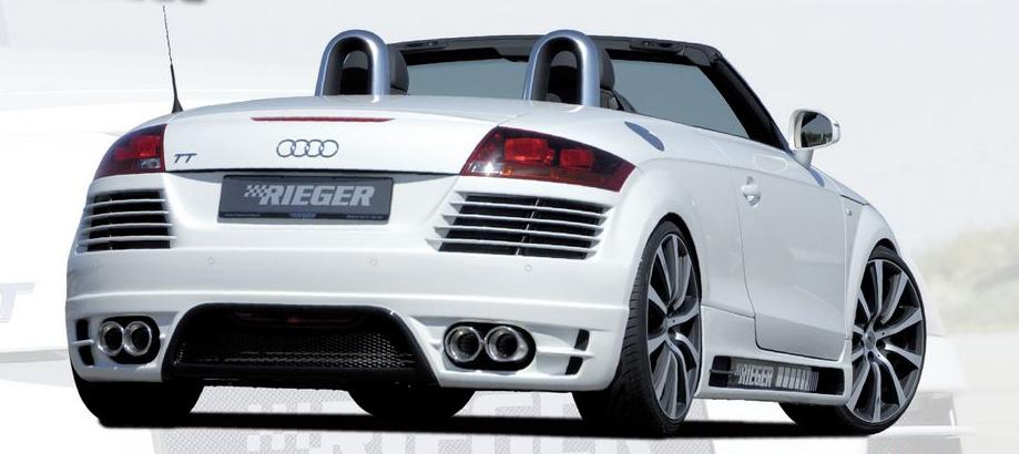 Rieger Carbon Look Rear Bumper w/ Gills Audi TT 8J 07-12