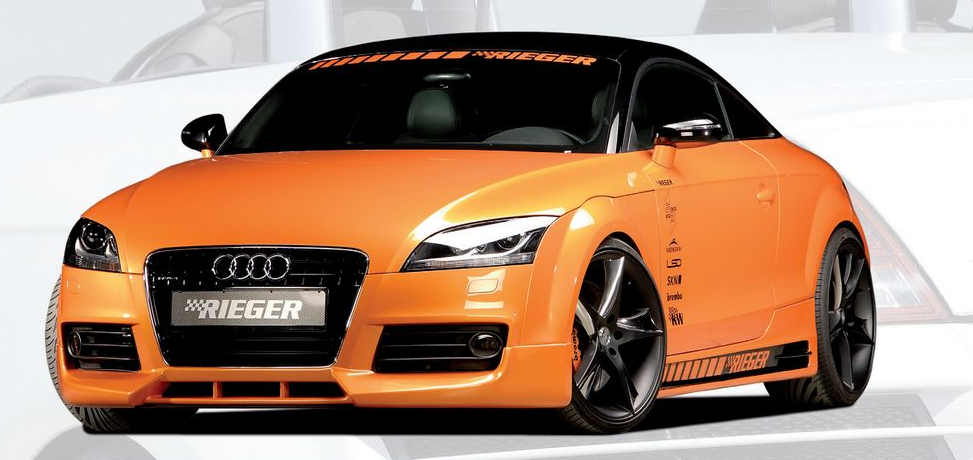 rieger front lip spoiler w 3 intakes audi tt 8j s line 07 12. Black Bedroom Furniture Sets. Home Design Ideas