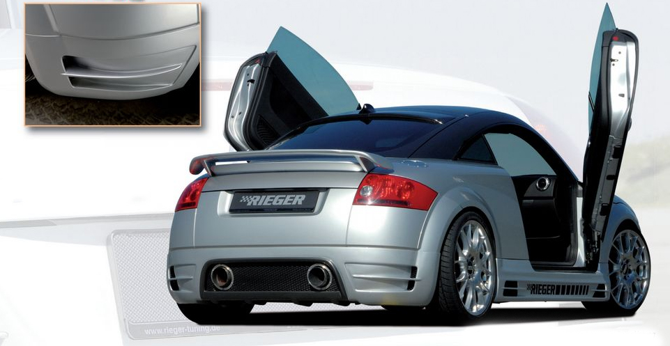 Rieger Carbon Look R-Frame Rear Skirt w/ Intakes Audi TT 8N 00-06 - R 99037