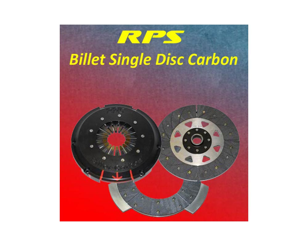 RPS Billet Strapless Single Push Carbon Clutch with Steel Fly Mitsubishi EVO VII VIII IX 01-07 - BC1PK-16001-S-Push