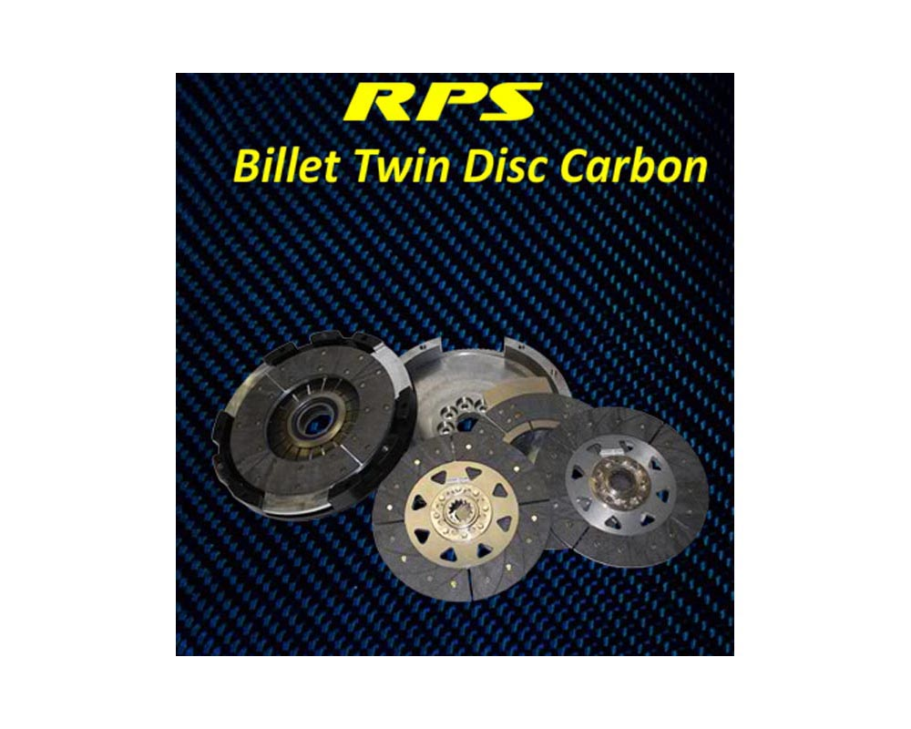 RPS Billet Strapless Twin Carbon Clutch with Aluminum Fly Nissan 300ZX TT 90-96 - BC2PK-17909
