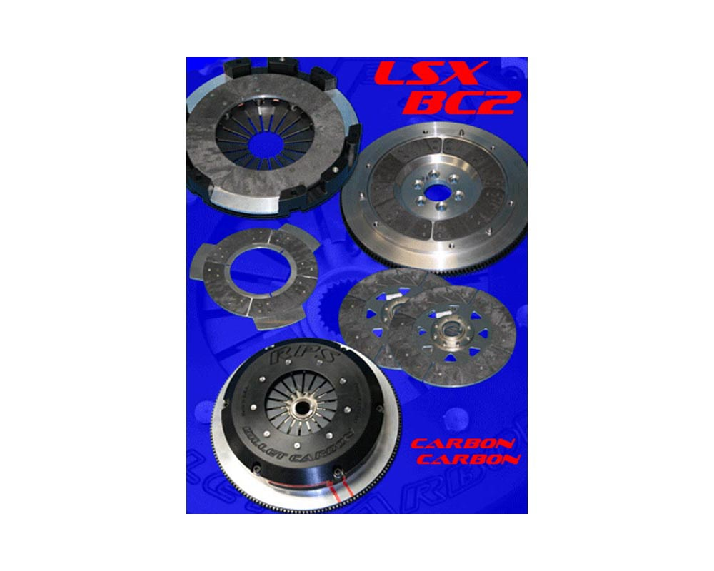 RPS Billet Strapless Twin Disk Carbon Clutch with Aluminum Flywheel Pontiac GTO 04-06 - BC2PK04LSXGTOAL