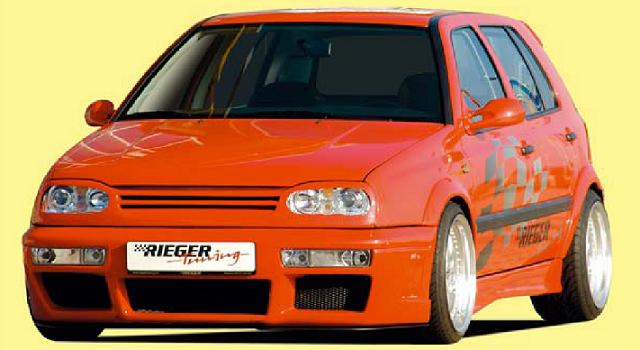 Rieger DTM Splitter for RS4 Front Bumper Volkswagen Golf III 93-99 - R 42034