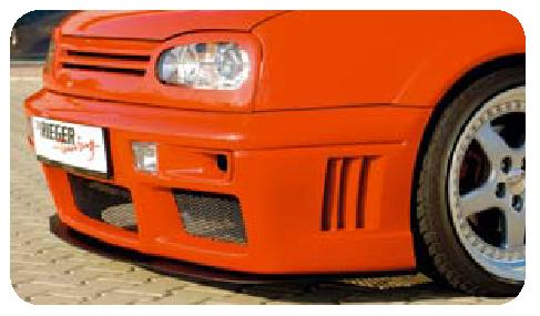 Rieger Carbon Look Air Duct Set for RS4 Front Bumper Volkswagen Golf III 93-99 - R 99722