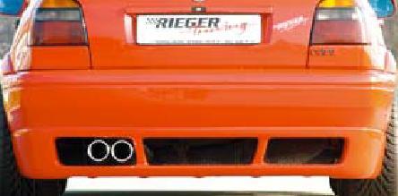 Rieger RS4 Rear Bumper w/ Mesh Volkswagen Golf III 93-99 - R 42063