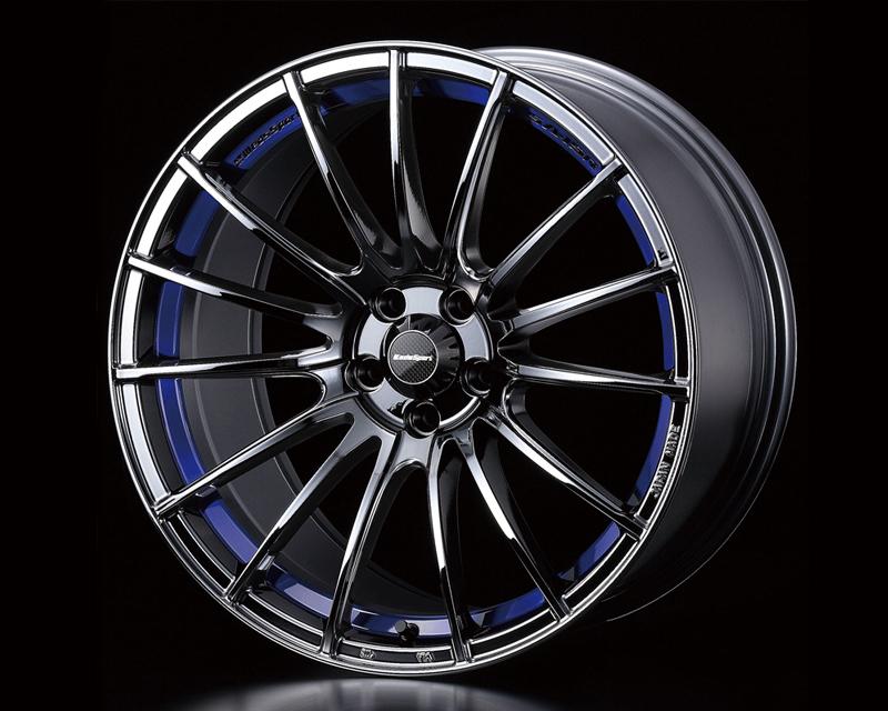 Weds Blue Light Chrome SA-15R Wheel 18x9.5  5x114.3 +38mm - SA15R189551143CHR