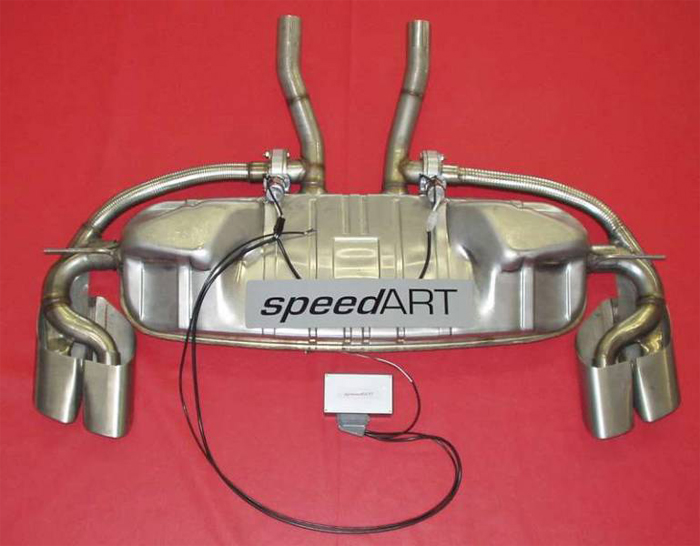 SpeedART Sport Exhaust w/ Switch/Oval Tips Porsche Cayenne 03-07 - P55.200.001S