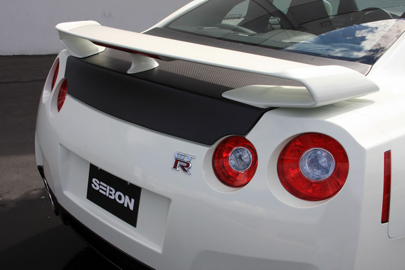 Seibon Dry Carbon OEM Style Trunk Lid Nissan GT-R R35 09-18 - TL0910NSGTR-OE-DRY