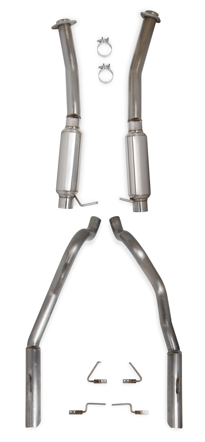 Hooker BlackHeart Cat-Back Exhaust System with Mufflers Ford Mustang 1994-2004 - 70503326-RHKR