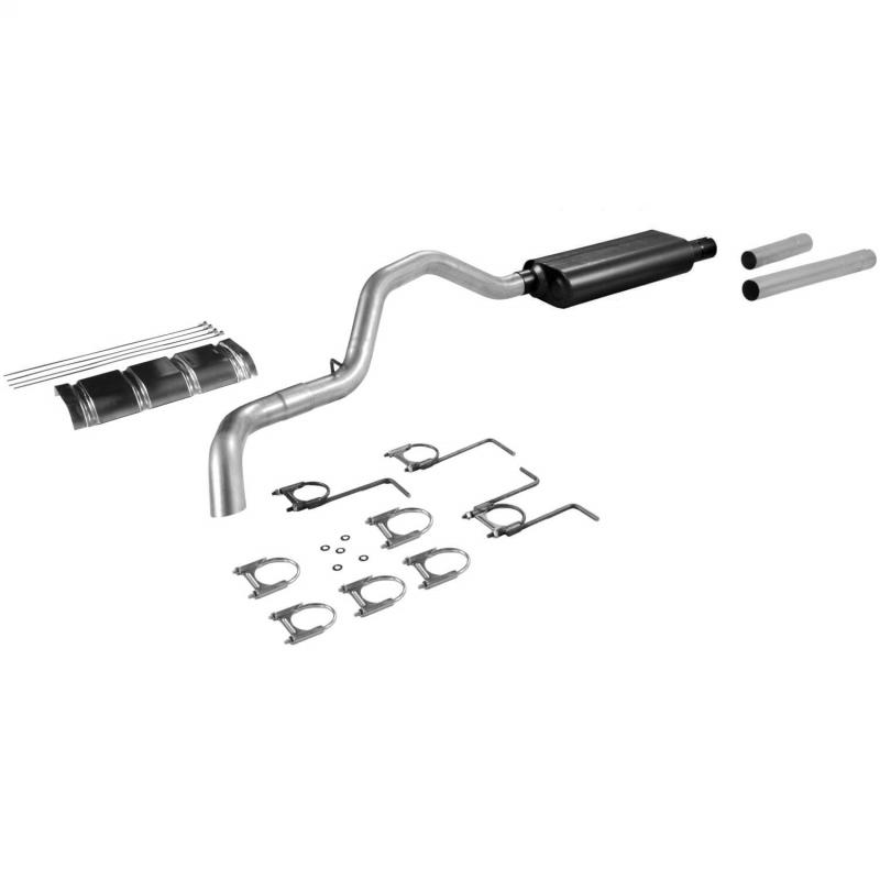 Flowmaster Catback System - Single Side Exit - Force II - Mild Sound Ford - 17211