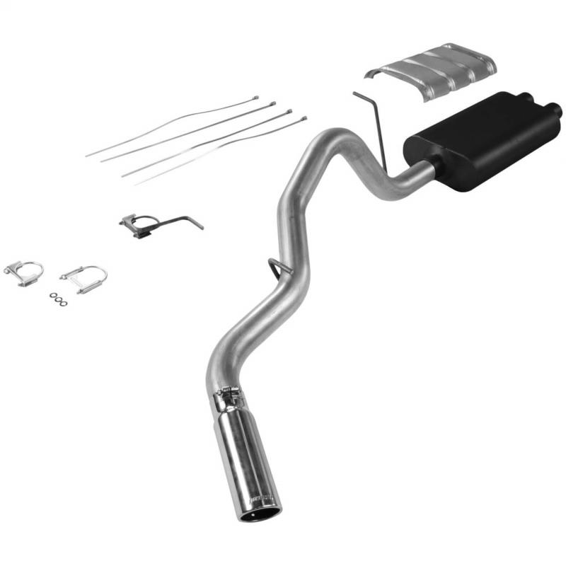 Flowmaster Cat-back System - Single Side Exit - American Thunder - Aggressive Sound - 17325