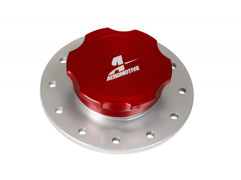 Aeromotive Fuel System Screw-On Fill Cap, 3-inch, Flanged, 12-Bolt - 18707