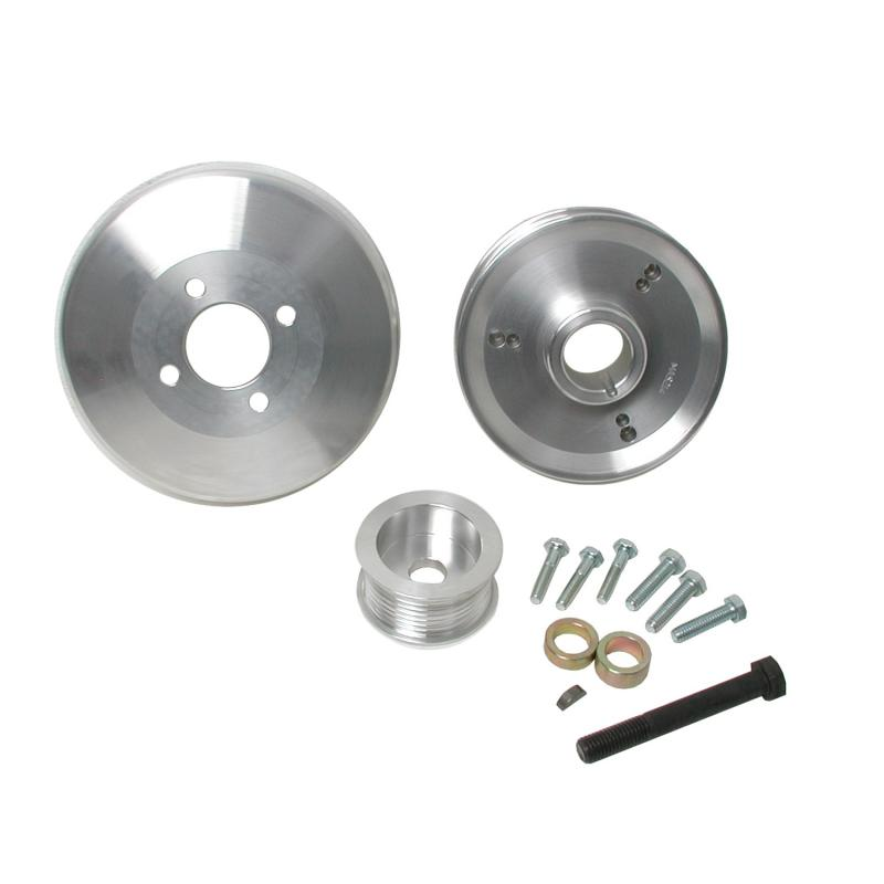 BBK Performance Parts 1997-2004 FORD 4.6L/5.4L F-SERIES/EXPED 3 PC UNDER DRIVE PULLEYS (ALUMINUM) Ford - 15550