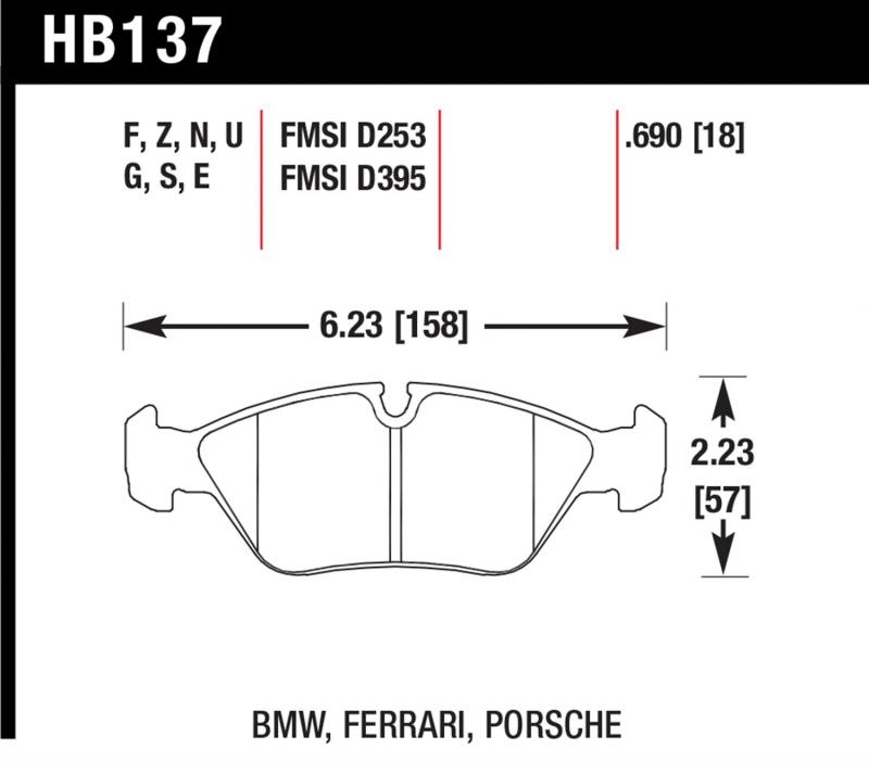 Hawk Performance Disc Brake Pad Front - HB137F.690