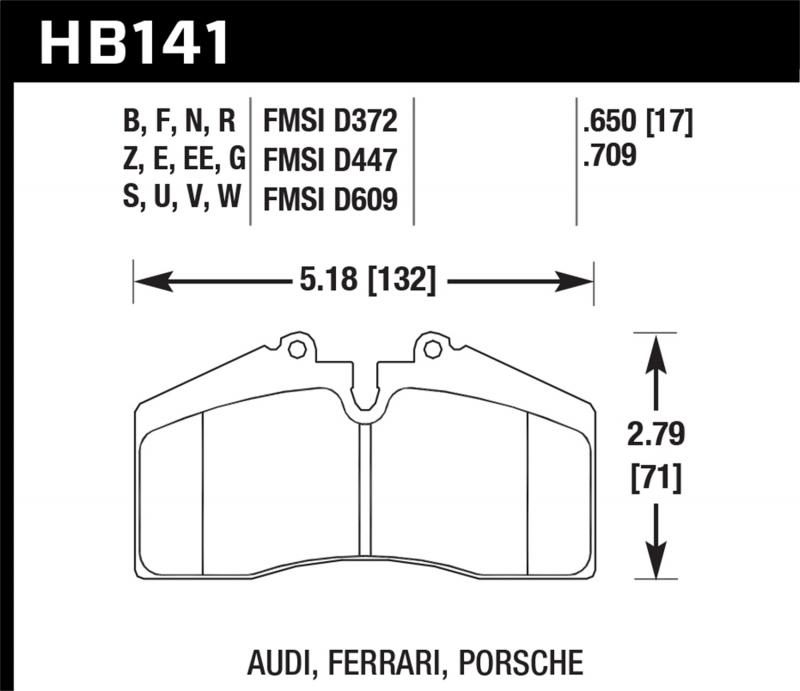 Hawk Performance Disc Brake Pad - HB141F.650