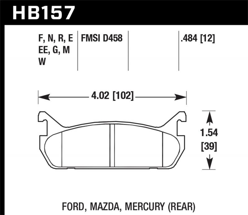 Hawk Performance Disc Brake Pad Rear - HB157F.484