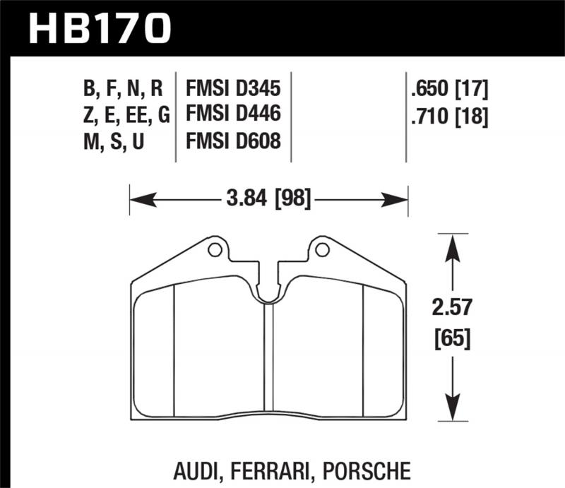 Hawk Performance Disc Brake Pad - HB170F.650