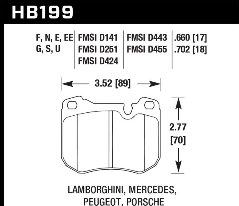 Hawk Performance Disc Brake Pad Front - HB199F.702