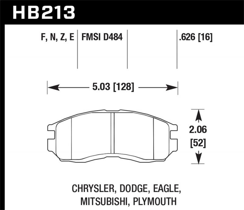 Hawk Performance Disc Brake Pad Front - HB213F.626