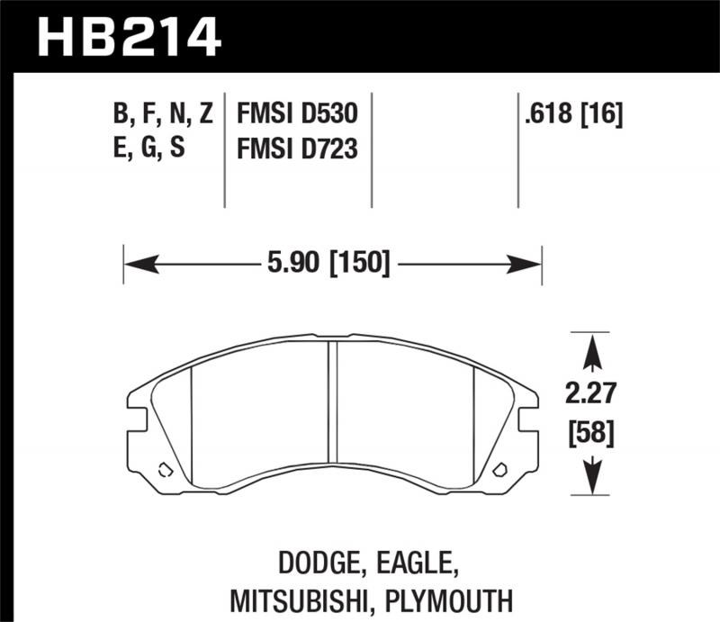 Hawk Performance Disc Brake Pad Front - HB214F.618